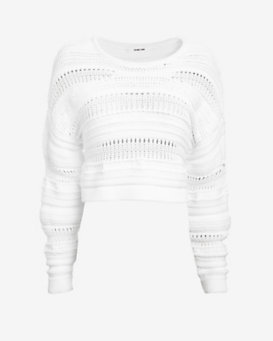 Helmut Lang Supple Cord Crop Sweater