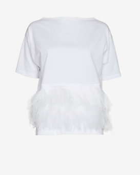 No. 21 Feather Trim Tee