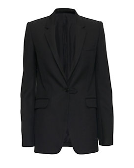 Helmut Lang Pique Wool Tab Suiting Blazer