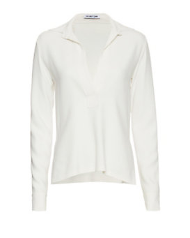 Helmut Lang Collared Stretch Henley