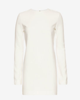 Helmut Lang Mini Stretch Dress: White