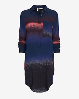 10 Crosby Derek Lam Printed Shirt Dress