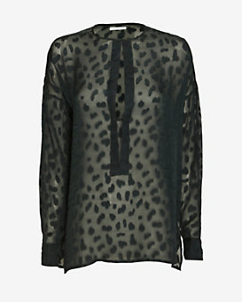 10 Crosby Derek Lam Animal Print Caftan Blouse