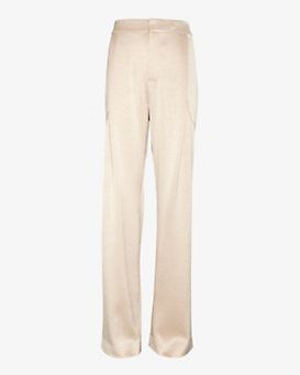 Derek Lam 10 Crosby EXCLUSIVE Shiny Fluid Trouser: Blush