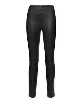 Derek Lam 10 Crosby High Waist Leather Legging: Black