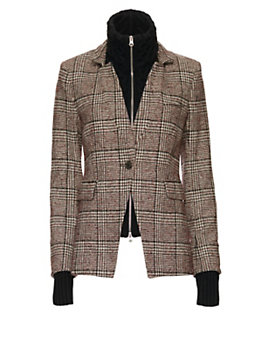 Veronica Beard Plaid Dickey Jacket