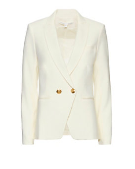 Veronica Beard EXCLUSIVE Double Breasted Jacket: White