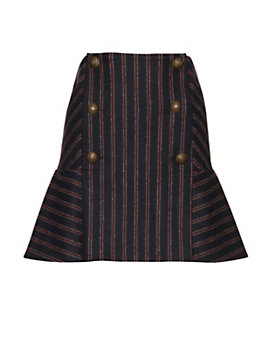 Veronica Beard Forge Stripe Flare Skirt