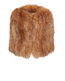 Adrienne Landau EXCLUSIVE Crystal Fox Fur Jacket