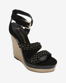 Jean-Michel Cazabat Embellished Woven Wedge
