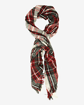 Luisa Brini Wool Plaid Scarf