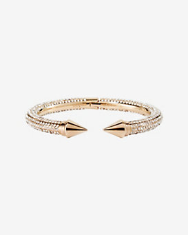 Vita Fede Mini Titan All Over Crystal Bracelet: Rosegold