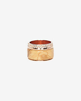 Vita Fede Cigar Wood Crystal Ring