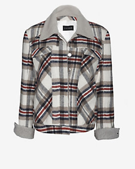 Laveer Plaid Hockey Jacket