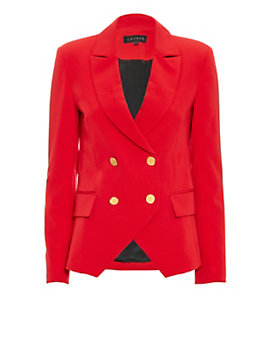 LAVEER Kadette Double Breasted Blazer: Red
