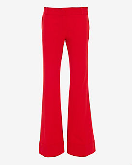 LAVEER Wide-Leg Trouser: Red