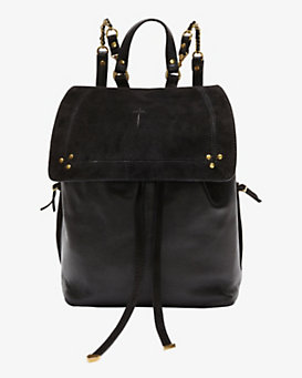 Jerome Dreyfuss Florent Noir Caviar Backpack