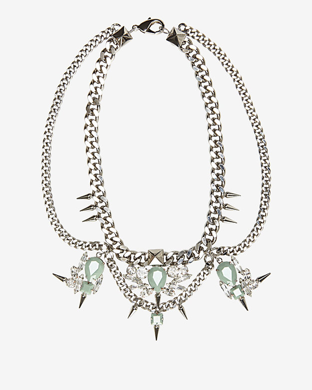 Fallon Multi Drop Crystal Link Necklace