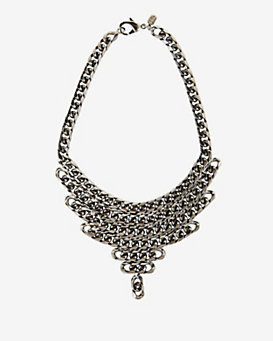 Fallon Curb Chain Bib Necklace