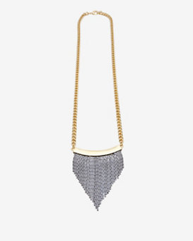 Fallon Long Liquid Fringe Necklace