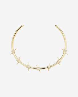 Fallon Pave Crystal Barbed Wire Collar