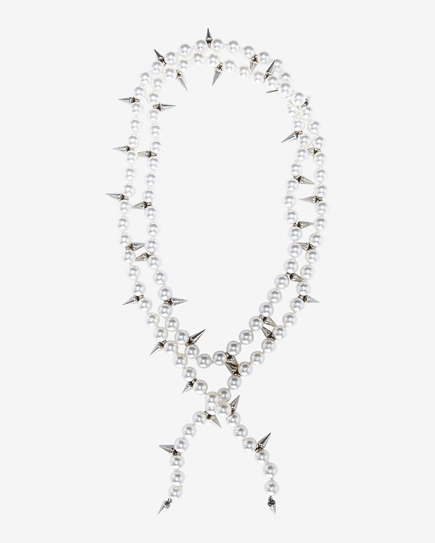 Fallon Linda Pearl/Spike Strand Necklace