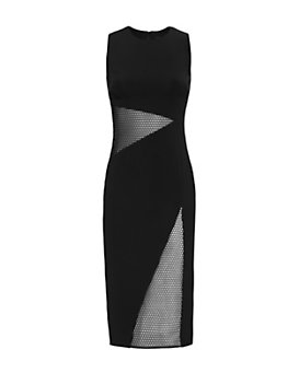 Cushnie Et Ochs Mid-Section Netting Sleeveless Dress