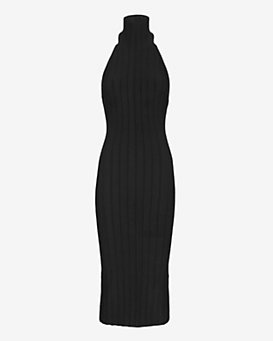 Cushnie Et Ochs Open Back Halter Knit Dress