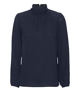 Derek Lam Turtleneck Blouse: Navy