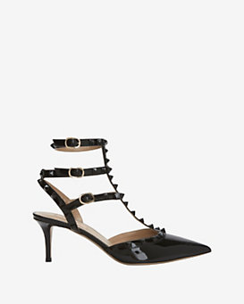 Valentino Punkouture Slingback Patent Leather Pump: Black