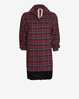 No. 21 Long-Sleeve Plaid Flannel Dress
