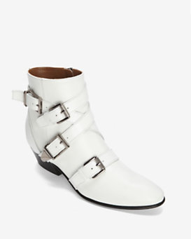 Barbara Bui Buckled Bootie: White