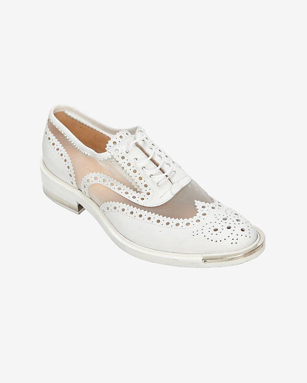 Barbara Bui Mesh Detailed Wingtip Brogue Oxfords
