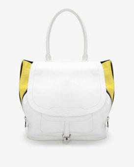 Barbara Bui Contrast Zipper Drawstring Shoulder Bag