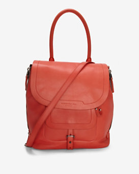 Barbara Bui Contrast Zipper Drawstring Shoulder Bag: Coral