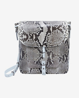 Barbara Bui Python Front Shoulder Bag: White