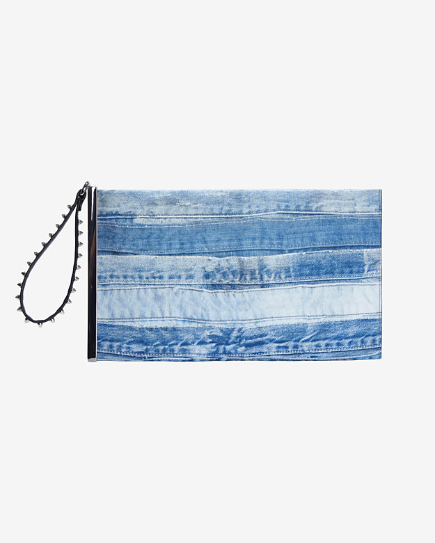 Barbara Bui Wristlet Clutch: Denim