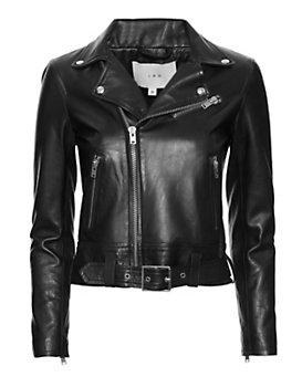 IRO Gant Moto Leather Jacket: Black