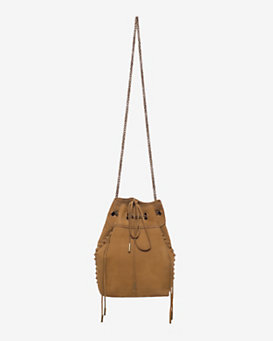 Jerome Dreyfuss Gary Bucket Crossbody: Mustard