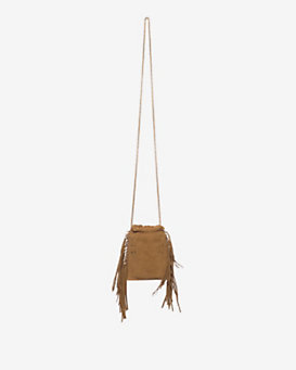 Jerome Dreyfuss Gary Fringe Crossbody: Brown