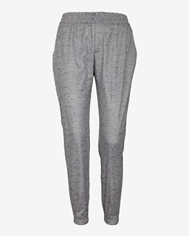 Georgie EXCLUSIVE Leather Like Printed Track Pants: Grey