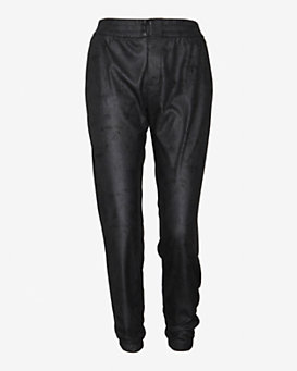 Georgie EXCLUSIVE Leather Like Track Pants: Black