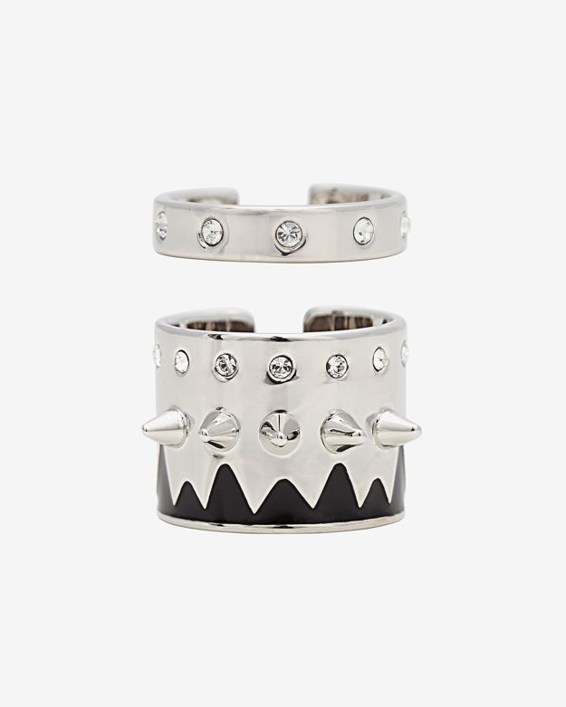 Maria Francesca Pepe Set Of Multi Banded Midi Rings