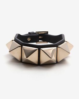 Valentino Rockstud Leather Belt Bracelet