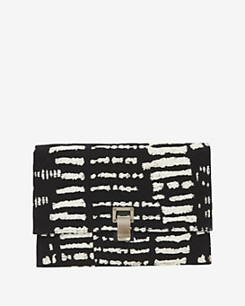 Proenza Schouler Canvas Wood Block Jacquard Small Lunchbag Clutch