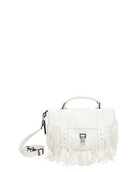 Proenza Schouler PS1 Medium Fringe Satchel: White