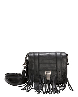 Proenza Schouler PS1 Fringe Crossbody Pouch: Black
