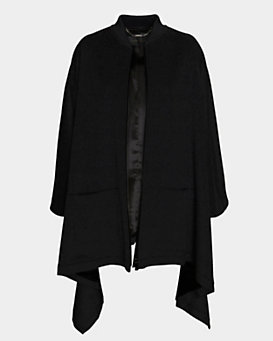 Barbara Bui Cashmere Blend Cape: Black