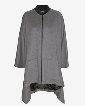 Barbara Bui EXCLUSIVE Cashmere Blend Cape Grey