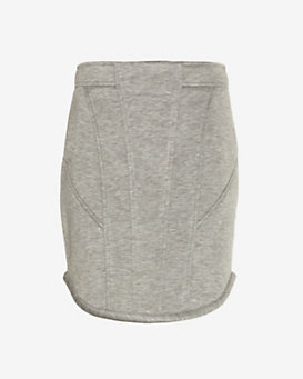 Barbara Bui Cotton Jersey Round Hem Skirt
